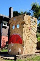 ''Mocks'' ... the Wanjina Watchers sculpture.