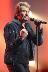 Recovering...Johnny Hallyday on stage in Lille in September.