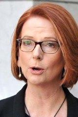 Dwindling support: Julia Gillard.