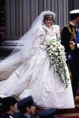 Princess Diana, on her wedding day.