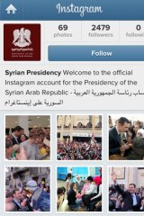 A screen grab shows the Syrian presidency's official Instagram page.