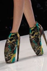 Those shoes ... Alexander McQueen's spring-summer 2010 collection.