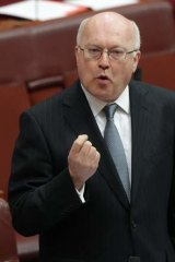 Attorney-General George Brandis: Used taxpayers money to attend Mike Smith's wedding.