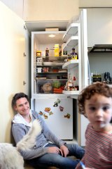 Comedian Dave Hughes shows us what's inside his fridge. Photo by Simon Schluter.