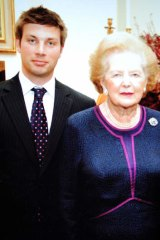 Tim Smith with Margaret Thatcher.