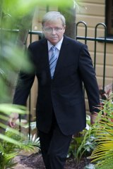 Kevin Rudd on the move.