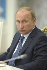 Russian President Vladimir Putin struck a conciliatory tone over Ukraine.