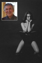Iconic photographer: Lewis Morley (insert) and his best know image featuring Christine Keeler.