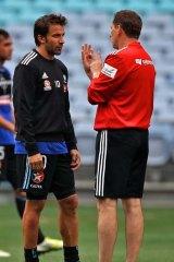 Worry ... Alessandro Del Piero and Ian Crook.