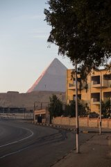 Tourism to Giza near Cairo - famed site of the pyramids and the Sphinx - has slumped as fears of terrorism and political upheaval stalk Egypt.