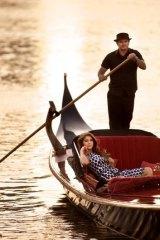 Drifter: Anna McEvoy aboard a Venice On The Yarra Gondola captained by Michael Morris.