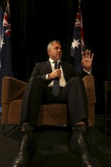 Treasurer Joe Hockey address a crowd at a Liberal luncheon held at the Westin in Sydney following last week's budget.