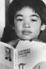 Then part-time ANU student and mathematics protege, nine-year-old Terry Tao, of Adelaide, pondering his future at the ANU Campus in 1995.