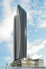 The proposed Sanbano Southport tower.