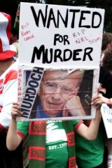 Rupert Murdoch was public enemy number one in the eyes of Rabbitohs fans.