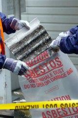 An asbestos removal in progress.