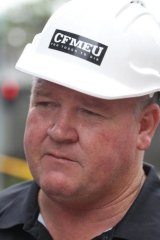 CFMEU NSW secretary Brian Parker.