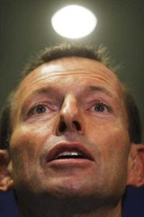 Tony Abbott holds a press conference during a visit to Barminco mining company in Perth. <i>Picture: Glen McCurtayne</i>