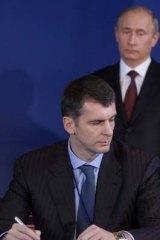 Vladimir Putin and challenger Mikhail Prokhorov.