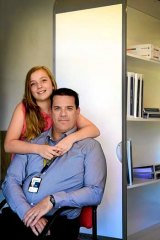Inventor Craig Harwood and his daughter Bridgette.