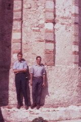 Viva Italia ... Malouf with his friend Carlo Olivieri (at left) in southern Italy, 1963.