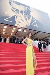Brazlilian model Isabeli Fontana attends a ascreening of Sait Laurent.