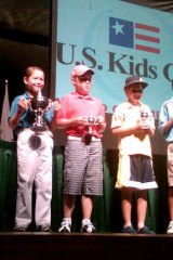 Karl Vilips (far left) after winning the US Kids World Championship.
