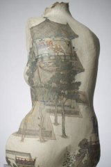<i>Night of July 7th</i>, bust with rice paper, 2009, by Peng Wei, of China.