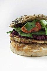 Ancient Grain Veggie Burger from Veggie Patch Van.