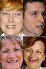 Clockwise from top: Marise Payne, Alex Hawke, Louise Markus and Sharman Stone.
