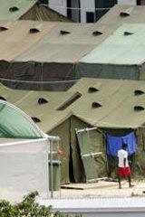 Tent city: Nauru detention centre.