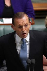 "Tony Abbott's response ... "" It never happened""."