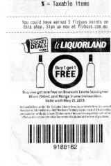 Under fire: Liqorland shopping docket offering buy one get one free on wine.