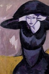 Artistic upheavals ...  Ernst Ludwig Kirchner's <i>Woman in a Hat</i> (1911).