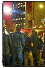 Food trucks, Martin Place, city.