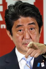 Japan PM Shinzo Abe.