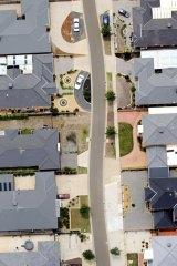 New housing at Truganina on Melbourne's western fringe.