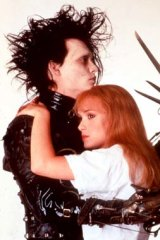 Winona Ryder with former fiance Johnny Depp in <em>Edward Scissorhands</em>.