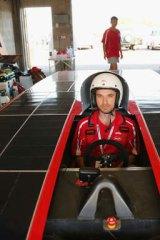 Chris Ahearn, driver of Arrow1 from Queensland Team Arrow.
