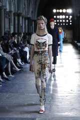 Catwalk inspiration … Gucci's cruise collection featured strong graphic print T-shirts.