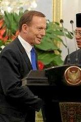 Tony Abbott and Indonesian President Susilo Bambang Yudhoyono.