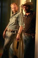 Directed by Ivan Sen, Mystery Road stars Hugo Weaving, left and Aaron Pedersen, right.