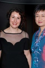 Penny Wong and partner Sophie Allouache attend the mid-winter ball in 2009.