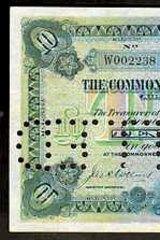 1913 Collins/Allen Ten Pounds. Type 3 Specimen. Estimate $76,000. Sold for $62,000.
