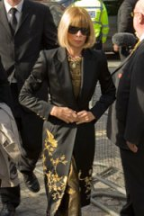 Anna Wintour gave an address at the service.