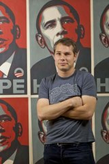 Destroyed and faked evidence ... Los Angeles street artist Shepard Fairey.