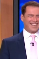 Karl Stefanovic wearing the suit in July 2014.