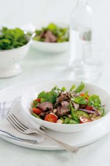 Give a toss … lamb, cannellini bean and rocket salad.