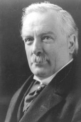 The plot thickens … David Lloyd George, British PM during World War I.