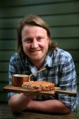 "Title-holder of the ""world's best sandwich maker'' Matt Wilkinson."